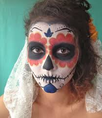face paint synonymous with the day of the dead you