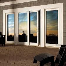 sliding patio door wooden fiberglass double glazed impact