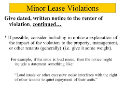 Lease Violations Effective Lease Enforcement Evictions And The Law In