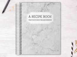 Recipe Journals White Marble Recipe Journal Custom Journals