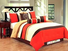and brown comforter bright to burnt orange bedding sets blue king twin white
