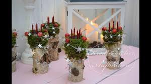 Diy Mini Adventskranz Auf Birkenholz Weihnachtsdeko Mit