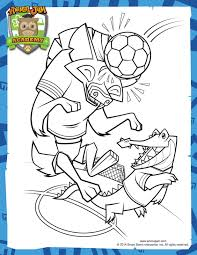 Soccer Coloring Page Animal Jam Academy