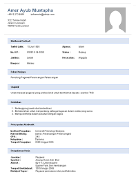 Extraordinary Resume Sample Malaysia Format With Additional Example ...