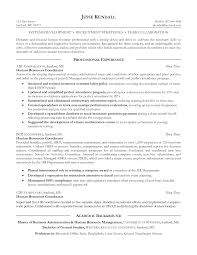 Human Resources Resume Sample Template Free Resource Pdf Entry Level