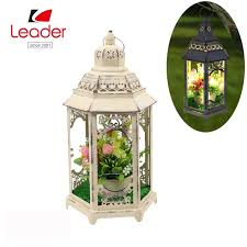 china metal white candle lantern with