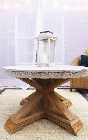 diy furniture x base outdoor coffee table with cement top get the free building
