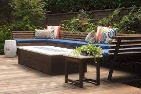 how to re a wood outdoor bench