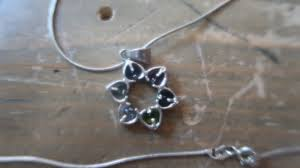 vintage 18 multicolor gemstone heart sterling silver pendant necklace
