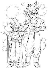 dragon ball z coloring book pictures pages best images on of 3