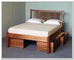 diy queen storage platform bed