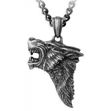 dark wolf pendant with chain at jewelry gem sterling silver jewerly gemstone jewelry
