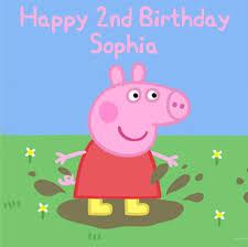 Peppa Pig Square Edible Birthday Cake Topper Decoration