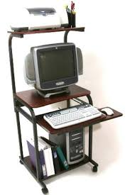 computer cart with hutch