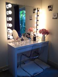 Makeup Vanities For Bedrooms With Lights Bedroom Makeup Vanities Mirror Vanity Light Drawer Chest Stool