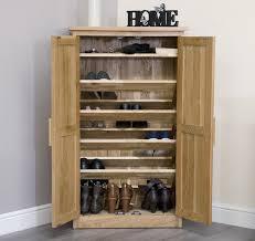 Arden Solid Oak Furniture Hallway Shoe Cupboard Cabinet Rack
