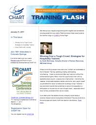 chart training flash e newsletter training flash e newsletter