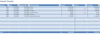 Excel Payment Tracker Template Invoice Tracking Excel Template Invoice Tracker Template