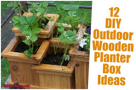 12 diy outdoor wooden planter box ideas