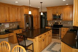 maple kitchen cabinets backsplash. Inspiring Maple Kitchen Cabinets With Quartz Countertops Backsplash