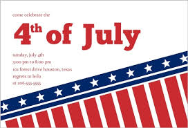 American Flag Fourth Of July Invite