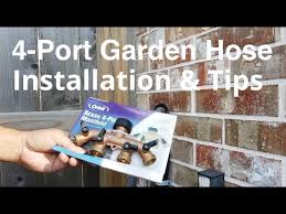 installing orbit 4 port garden hose