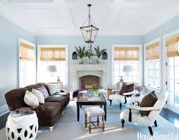 spring decorating ideas spring home decor blue walls brown furniture