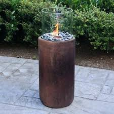 outdoor fire column propane natural gas