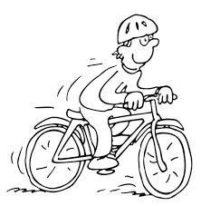 Mountainbike Kleurplaat Radfahrer Seitlich Ausmalbild Malvorlage