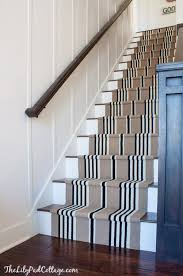 stair runner and laminate floor staircase diy
