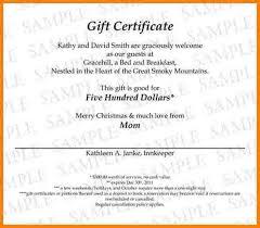 Gift Certificate Wording Gift Certificate Verbiage Gift Certificate Wording Diff