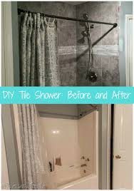 come see how we took our shower tub combo to a beautiful diy tile shower