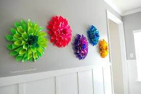 Tissue Paper Flower Wall Art Diy Flower Wall Decor Paper Flower Wall Decor Wall Decor Paper
