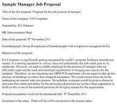 Construction Proposal Format Custom Sample Job Proposal Template