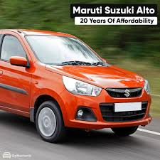 Maruti Suzuki Alto 20 Years Of Affordability Suzuki Alto Maruti Suzuki Alto Suzuki