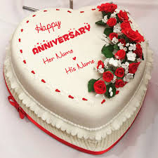 Anniversary Cake Images With Name Editor Rapi Cake Gallery
