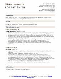 Objective Accounting Resumes Chief Accountant Resume Samples Qwikresume
