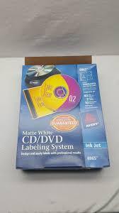 avery template 8965 avery dennison ave8965 dvd label ebay