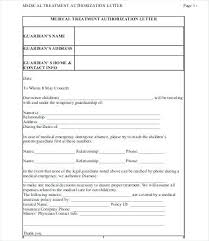 Medical Authorization Letter Template How To Make For Pick