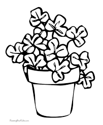 Small Picture Shamrock coloring pages 003