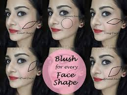 how to apply blush for diffe face shapes makeup tutorial