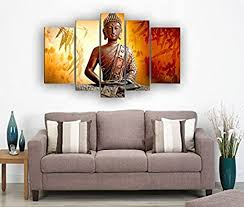 It fits so perfectly into the decor of my private space. Amazon Com Framed 5 Panel Wall Art Religion Buddha Huge Size Oil Painting On Canvas Posters Prints