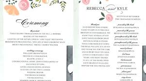 wedding programs wording templates modern program ening reception sle template word