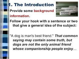 five paragraph essay 8 1 the introduction provide some background information