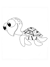 Kleurplaat Schildpad Van Finding Nemo Kleurplaatjecom