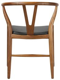 wishbone chair leather pad hans wegner reion