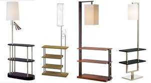 large of floor lamp with shelves