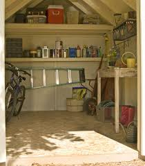 maximize your storage potential inside your shed by adding shelves workbenches and tables nice