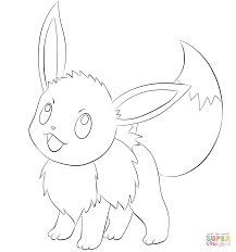 Small Picture Eevee coloring page Free Printable Coloring Pages
