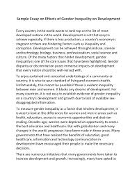 gender inequality in education essays three empirical essays on gender equality and education